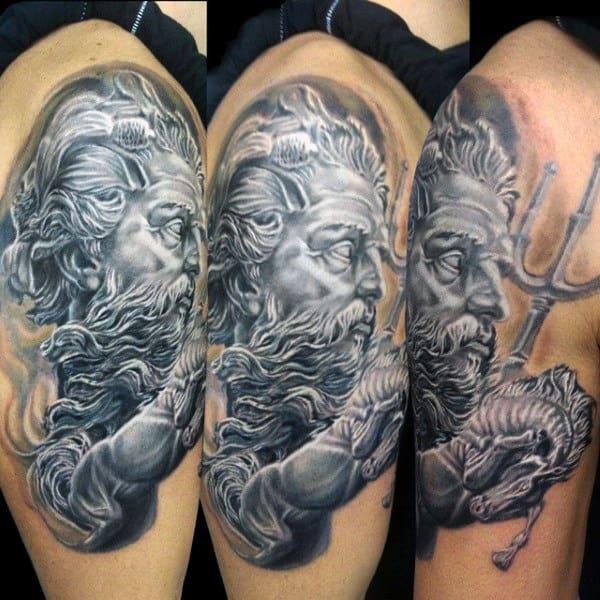 Poseidon Mythology Male Tattoos