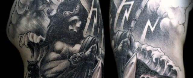 Poseidon Tattoo Designs For Men