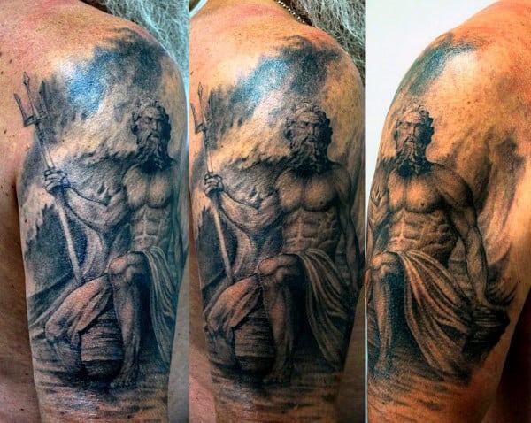 Poseidon Tattoos Meaning For Men