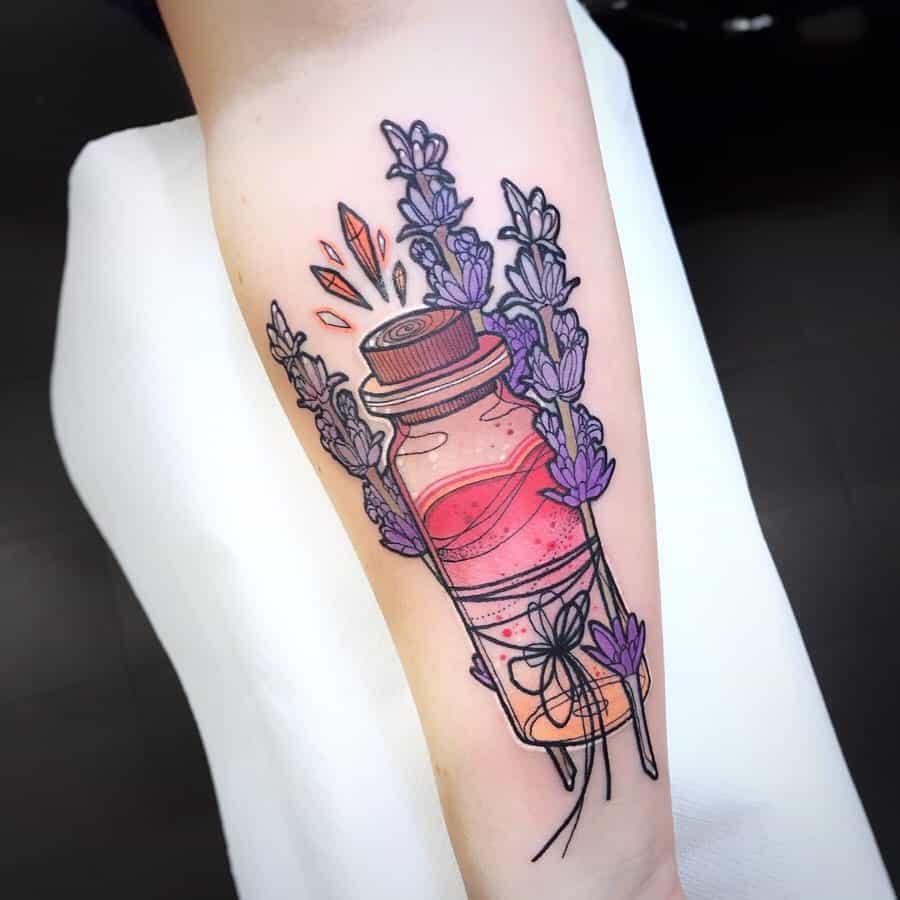 Potion Lavander Tattoo