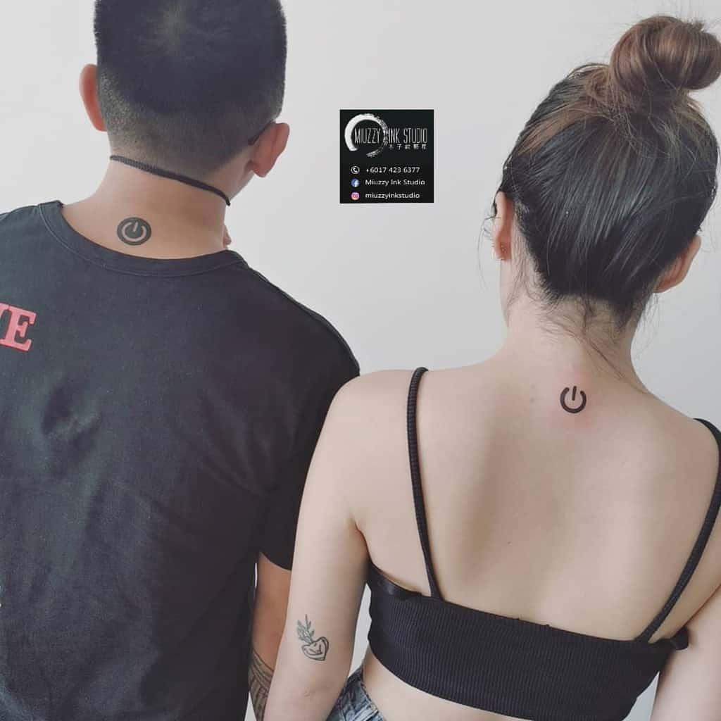 Power Button Friendship Tattoo