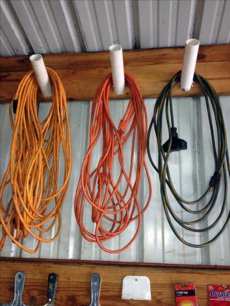 Power Cord Tool Storage Ideas