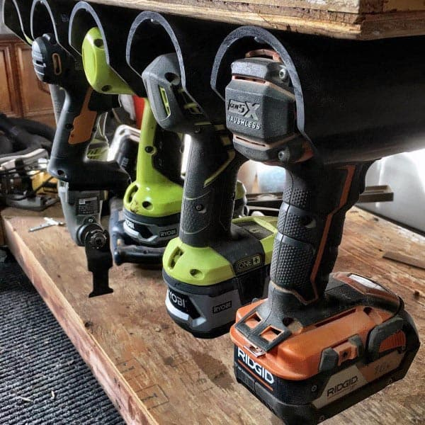 Power Drill Holder Tool Storage Ideas