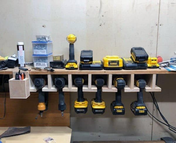 Power Drills Tool Storage Ideas With Charging Station