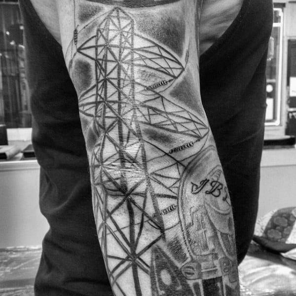 Power Line Lineman Full Sleeve Tattoos