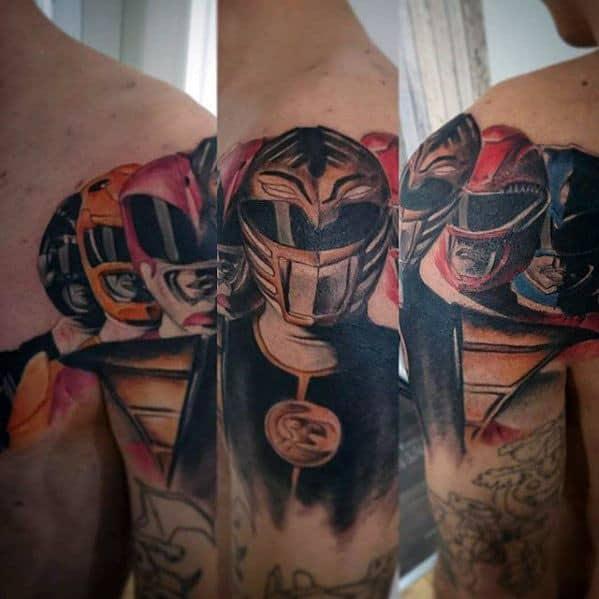 50 power rangers tattoo designs for men superpower ink ideas. Black Bedroom Furniture Sets. Home Design Ideas