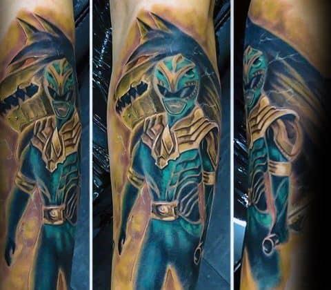 50 Power Rangers Tattoo Designs For Men Superpower Ink Ideas
