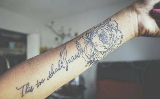 Powerful This Too Shall Pass Tattoo