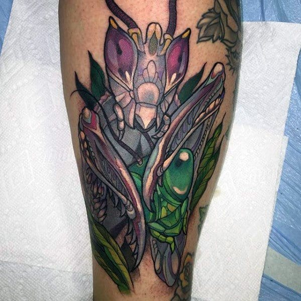 Praying Mantis Male Tattoo Designs
