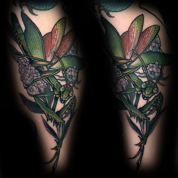 Praying Mantis Tattoo Designs For Guys