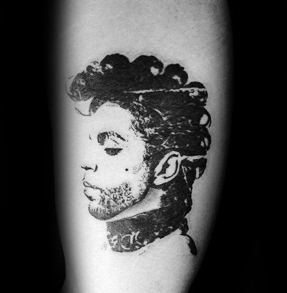 Prince Head Inner Arm Bicep Tattoos Men