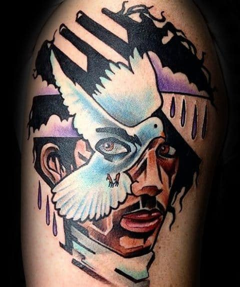 Prince Tattoo Ideas For Males On Upper Arm