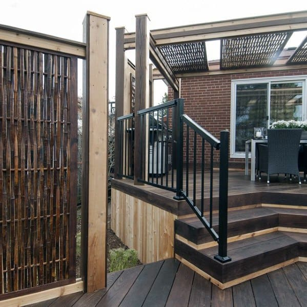 Privacy Deck Bamboo Fence Ideas