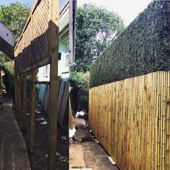 Privacy Hedge Top Bamboo Fence Design Idea Inspiration