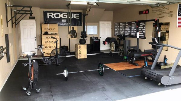 Private Fitness Area Garage Gym Ideas