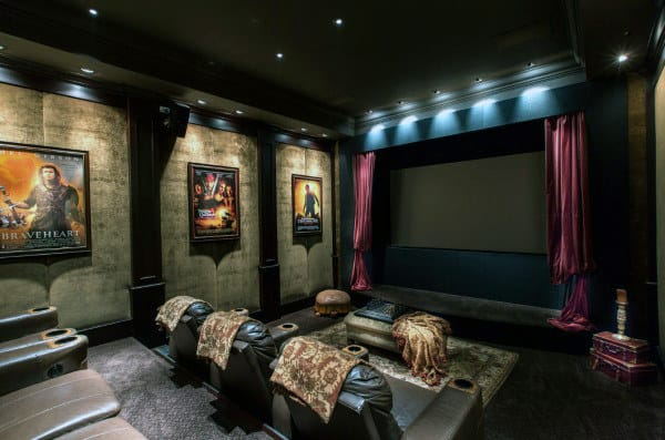 Home Theater Ideas 80 home theater design ideas for men - movie room retreats