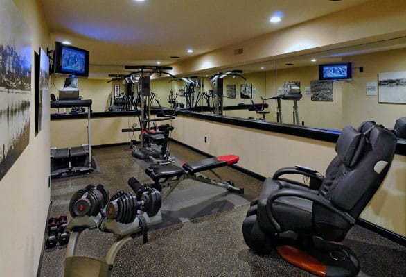 Private Indoor Basement Home Gym For Guys