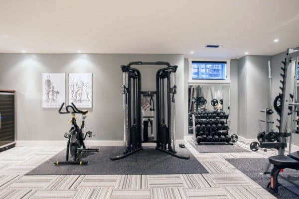 Private Indoor Home Basement Gym Fitness Room Design