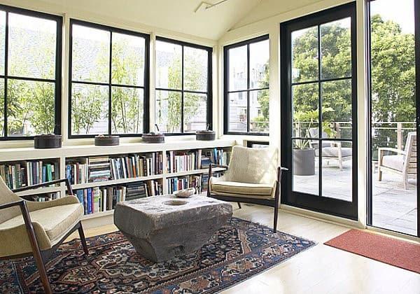 Private Reading Area Sunroom Ideas