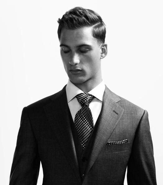 Professional Hard Part Hairstyle For Business Men