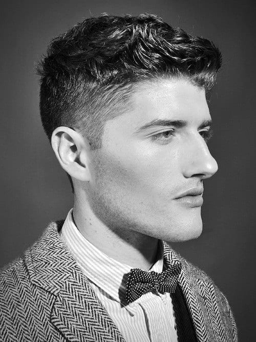 Professional Mens Curly Fade Haircut Short Length
