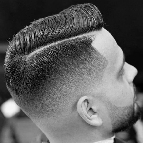 Professional Modern Comb Over For Males With Side Fade