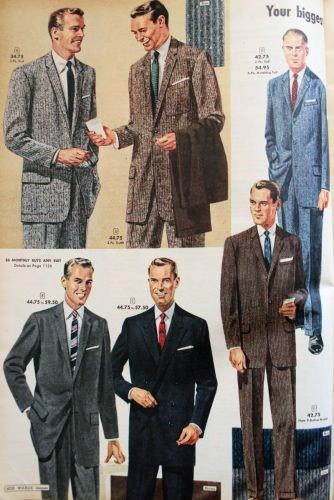 Professional Suit Fashion 1950s Mens Catalogs