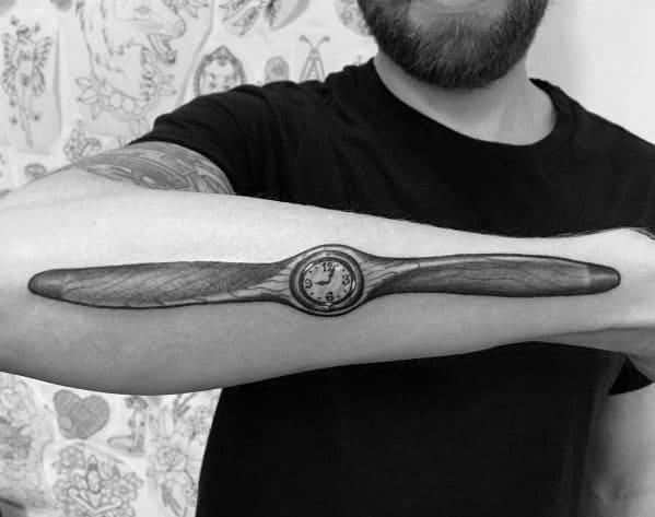 Propeller Tattoo Inspiration For Men
