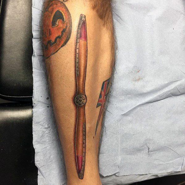 Propeller Themed Tattoo Ideas For Men