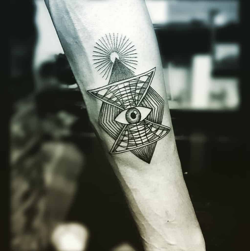 Psychedelic Third Eye Tattoo