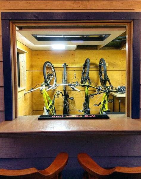 Pub Backyard Bar Ideas With Bike Rack Storage