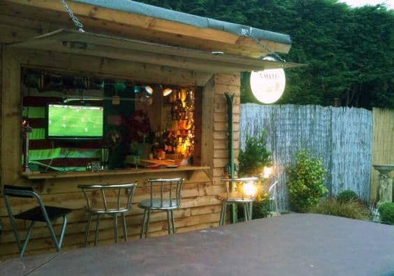 Storage Shed Man Cave Ideas : 50 pub shed bar ideas for men cool backyard retreat designs