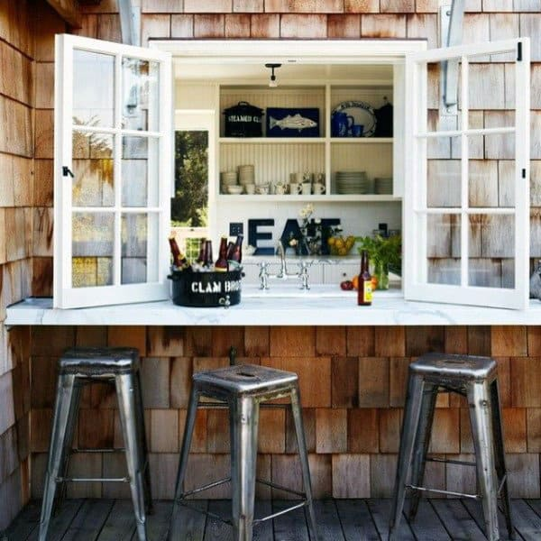 40 Cool Rustic Bar Design: Cool Backyard Retreat Designs