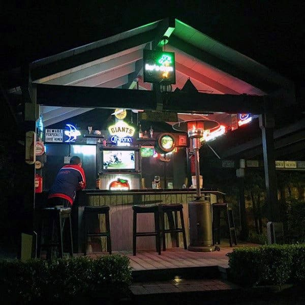 Pub Sheds With Neon Sign Decor