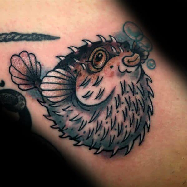 Puffer Fish Male Tattoos