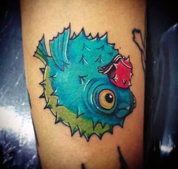 Puffer Fish Tattoo Design Ideas For Men