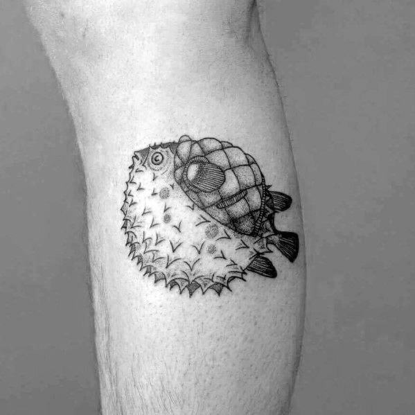 Puffer Fish Tattoo Inspiration For Men