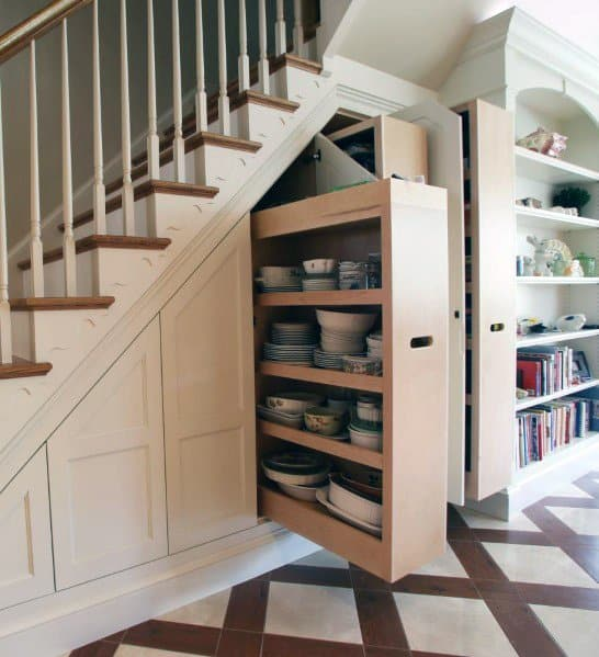 Pull Out Cabinet For Kitchen Storage Ideas For Under Stairs Interior