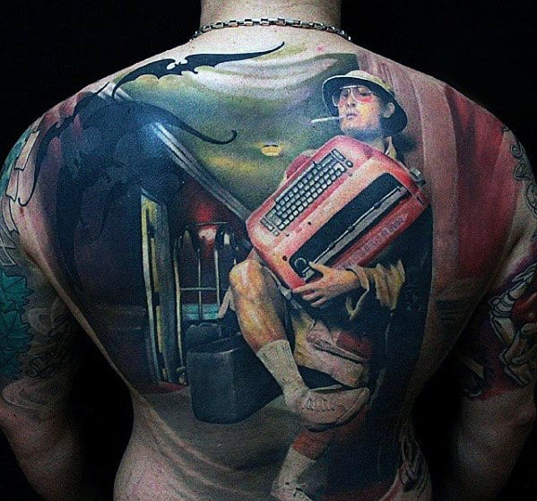 Pulp Fiction Mens Badass Full Back Tattoos