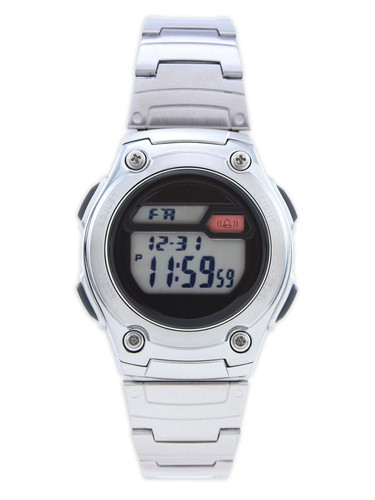 Pulsar Pq2001 Silver Tone Stainless Steel Guys Digital Watch