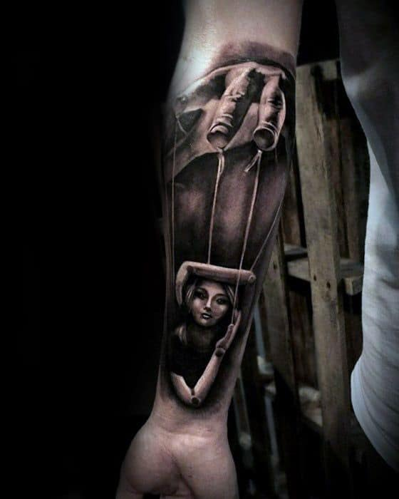 Puppet Mens Tattoo Designs