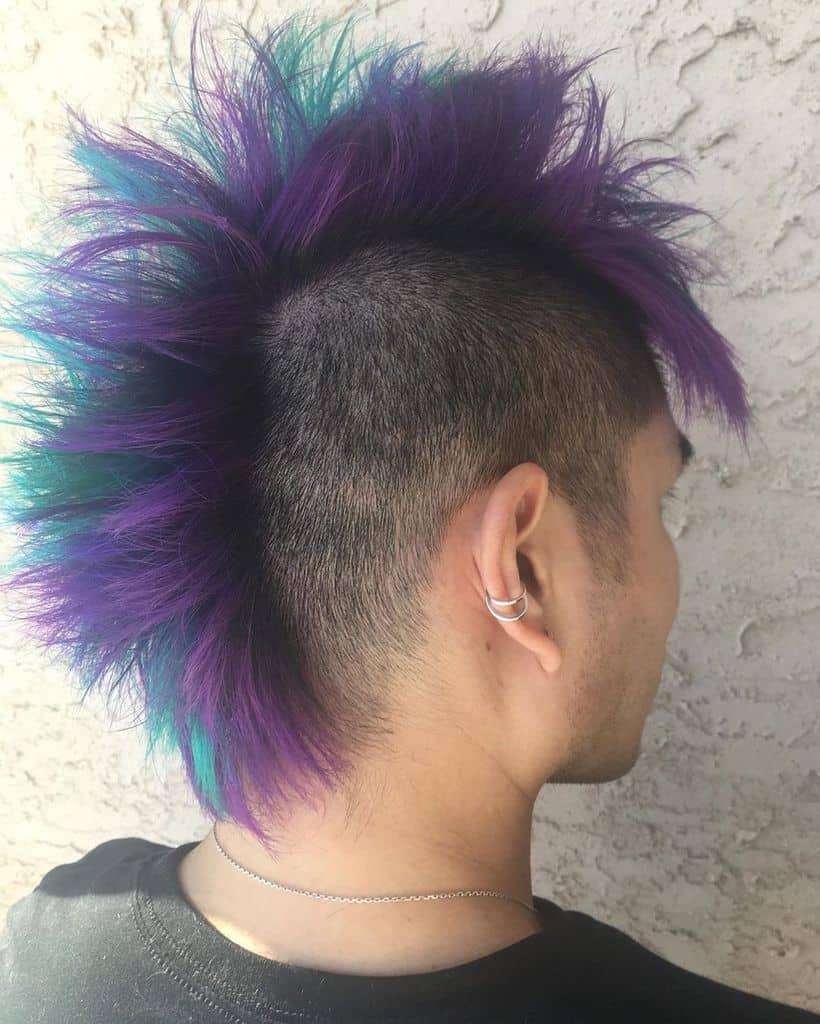 Purple Cool Spiky Hair Cut