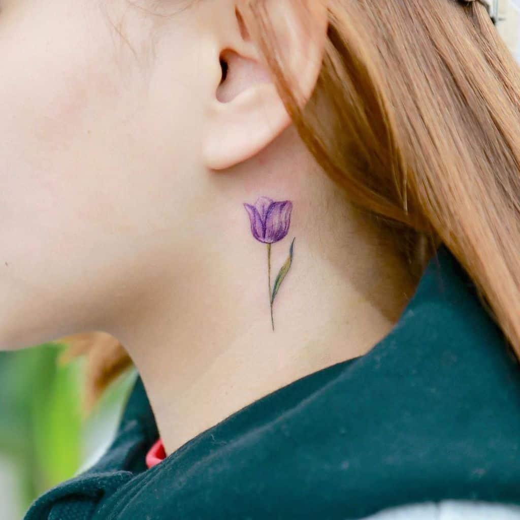 Purple Tulip Tattoo