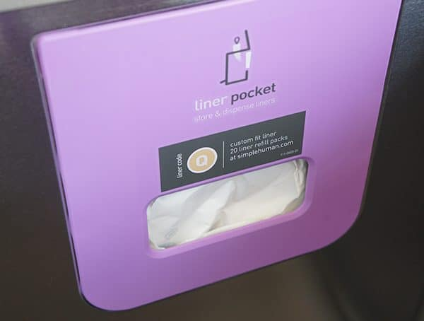 Q Liner Code Pocket Dispenser Inside Of Simple Human Trash Can