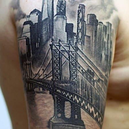 60 New York Skyline Tattoo Designs For Men Big Apple Ink