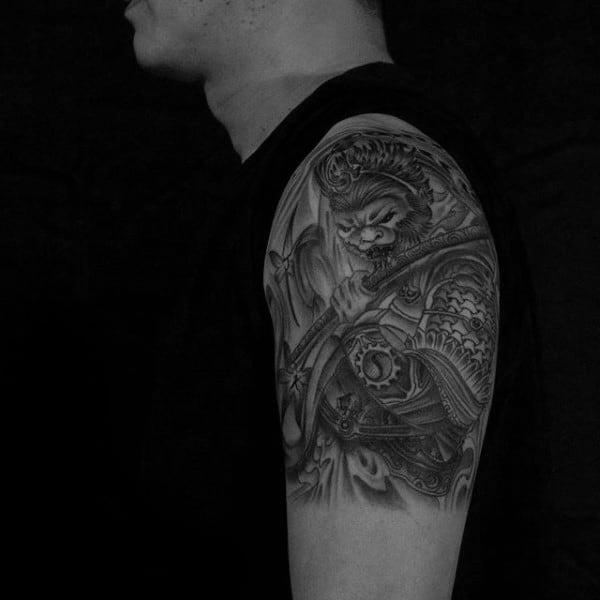 60 Monkey King Tattoo Designs For Men - Sun Wukong Ideas