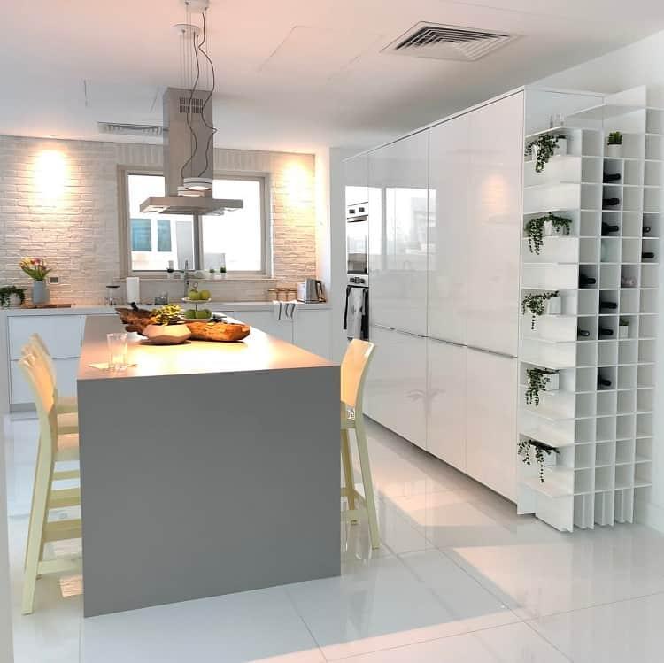 Quartz Countertops Corner Liquor Cabinet By Neda