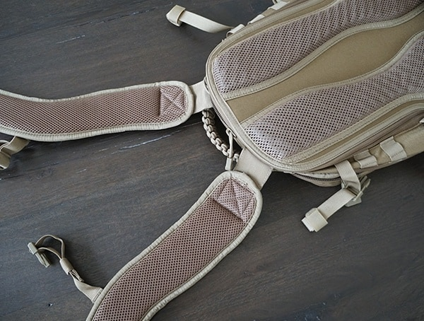 Quick Release Padded Shoulder Straps Elite Survival Systems Pulse 24 Hour Tactical Backpack