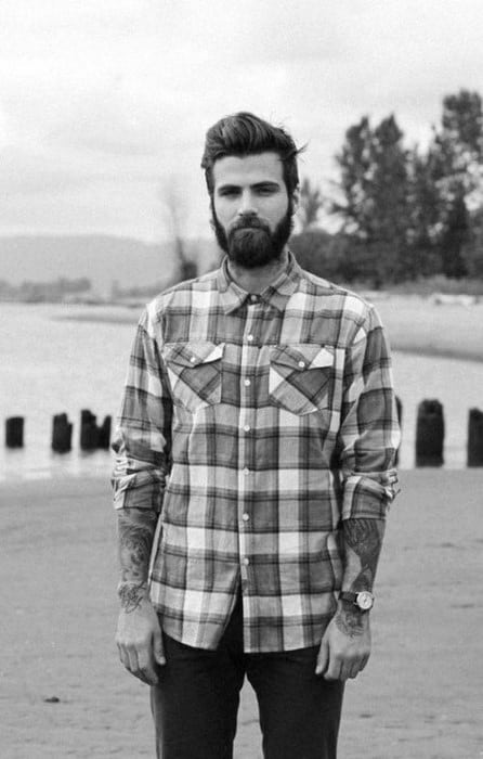 Quiff Bearded Male Hipster Hair