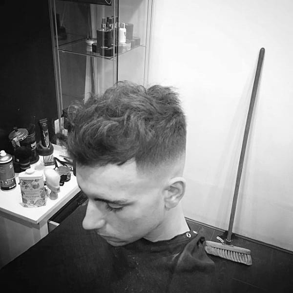 Quiff Mens Curly Hair With Fade